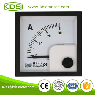 High quality professional BE-48 DC4-20mA 30A analog dc panel mount ammeter