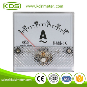 Original manufacturer high Quality BP-80 AC100/1A analog ac ampere panel ammeter