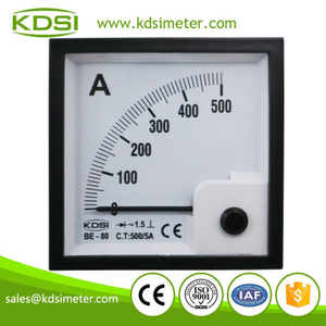 Factory direct sales BE-80 AC500/5A rectifier analog ac amp panel meter