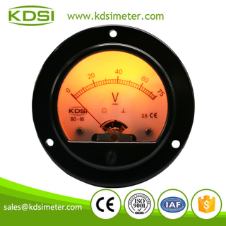 Factory direct sales BO-65 DC75V with backlighting round analog panel meter