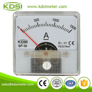 20 years Professional Manufacturer BP-38 DC75mV 1500A panel analog electric small ammeter