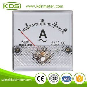 China Supplier BP-80 AC20/5A analog ac amp panel meter