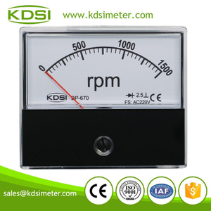 Original manufacturer high Quality BP-670 AC220V 1500rpm rectifier panel analog rpm meter