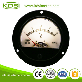 Hot Selling Good Quality BO-52 DC20V analog white backlighting panel voltage gauge