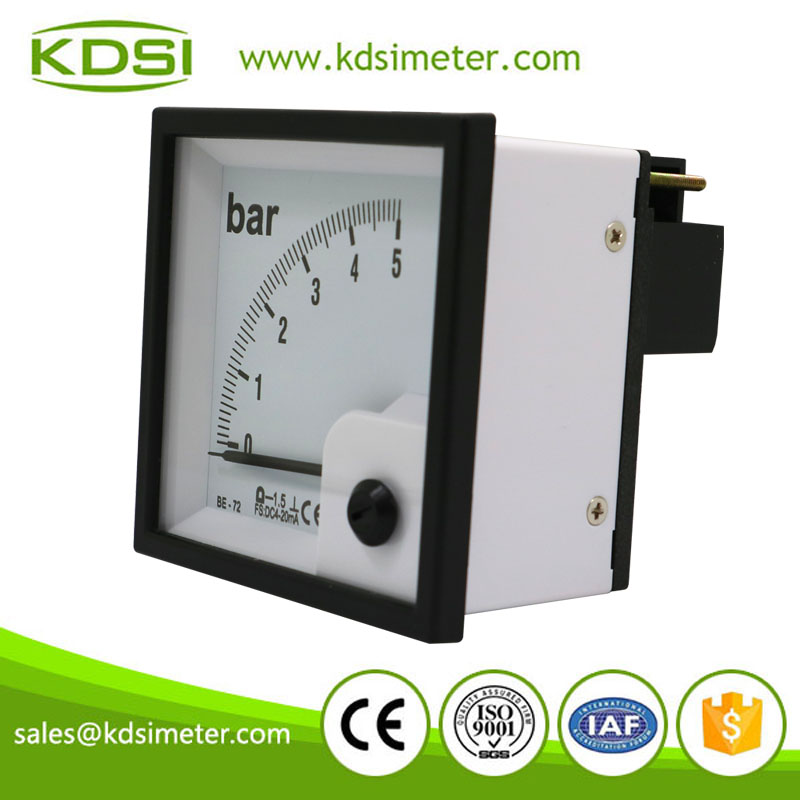 High quality professional BE-72 DC4-20mA 5bar analog panel pressure meter