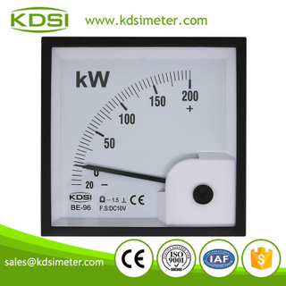 KDSI electronic apparatus BE-96 DC10V -20-200kW dc analog voltage panel kW meter