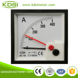 Square type BE-80 AC400 / 5A rectifier with red pointer automotive ammeter
