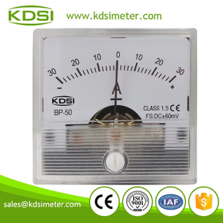 New Hot Sale Smart BP-50 DC+-60mV+-30A transparent cover panel analog ammeter zero in center