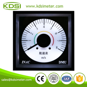 KDSI electronic apparatus BE-96W DC4-20mA 8m-s backlighting wide angle panel analog marine speed meter