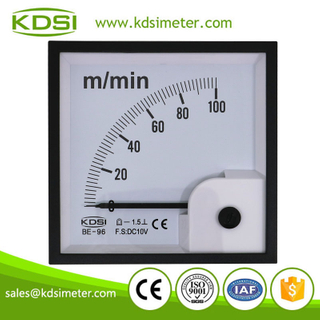 CE Approved BE-96 DC10V 100m/min voltage analog panel marine tachometer