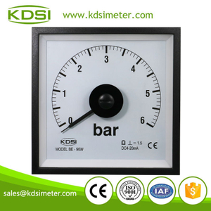 CE certificate BE-96W DC4-20mA 6bar wide angle current pressure panel meter