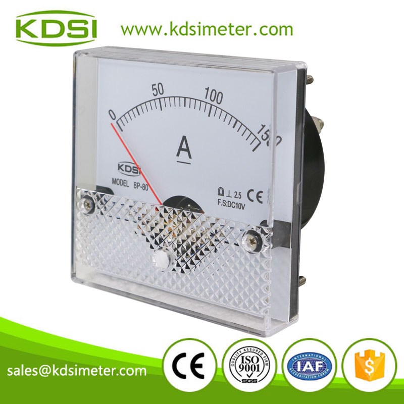 Hot Selling Good Quality BP-80 DC10V 150A analog panel ammeter with output