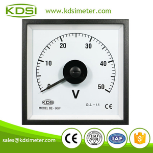Original manufacturer high Quality BE-96W DC50V wide angle analog panel volts meter