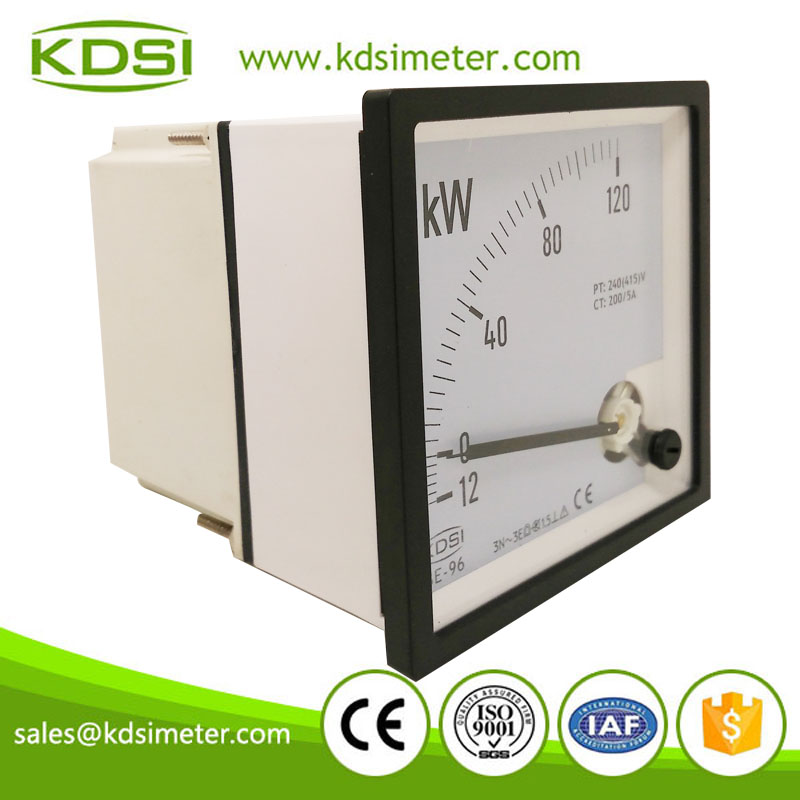 Industrial universal BE-96 3P4W -12-0-120kW 200/5A 240(415)V analog panel kW power meter
