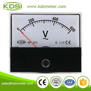 Hot Selling Good Quality BP-670 AC600V analog panel mount ac voltmeter