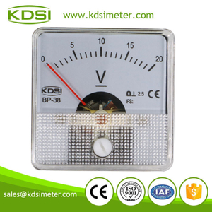 New Hot Sale Smart BP-38 DC20V analog panel mount voltmeter