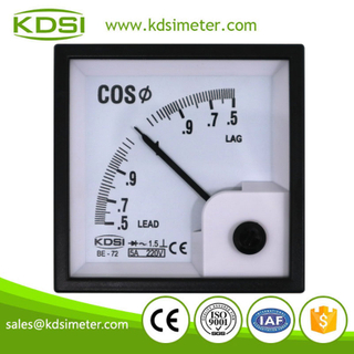 Factory direct sales BE-72 COS 5A 220V single phase analog power factor meter