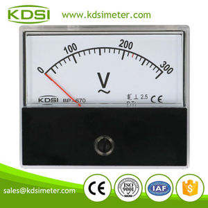 High quality professional BP-670 AC300V panel analog ac ammeter ac voltmeter