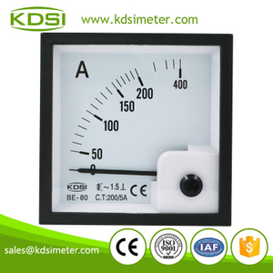 Factory direct sales BE-80 AC200/5A analog panel ac price of ammeters