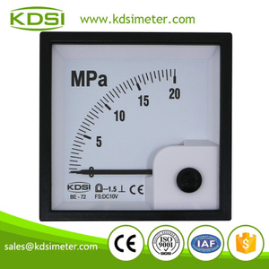 Instant flexible BE-72 DC10V 20MPa analog panel voltage pressure meter