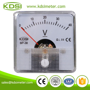 Factory direct sales BP-38 DC40V analog panel din rail voltmeter