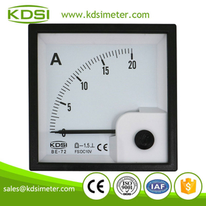 KDSI electronic apparatus BE-72 DC10V 20A analog dc panel mount ammeter