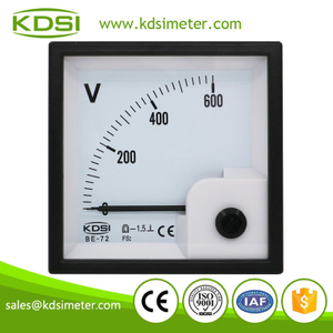 Easy installation BE-72 DC600V direct analog high voltage panel voltmeter