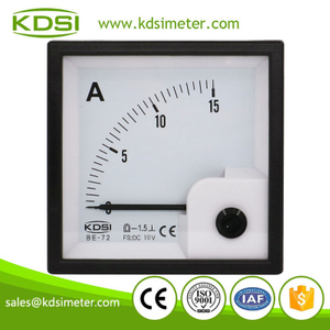 Easy installation BE-72 DC10V 15A analog dc panel small ammeter