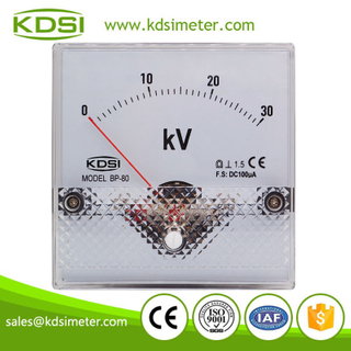 CE Approved BP-80 DC100uA 30kV analog dc panel mount voltmeter