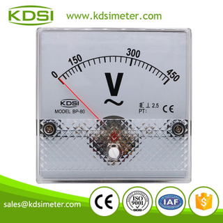 Factory direct sales BP-80 AC450V analog ac panel voltmeter