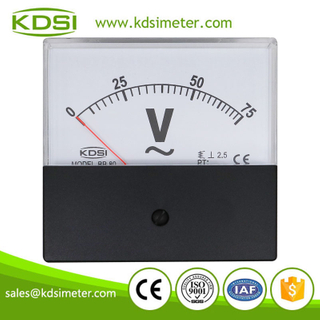KDSI electronic apparatus BP-80 AC75V black cover analog ac panel voltage meter