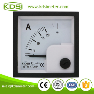 High quality professional BE-48 AC20/5A ac analog mini panel ac ammeter