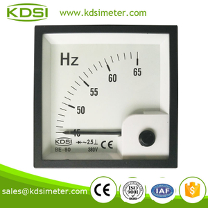 High quality BE-80 380V 45-65HZ analog frequency meter