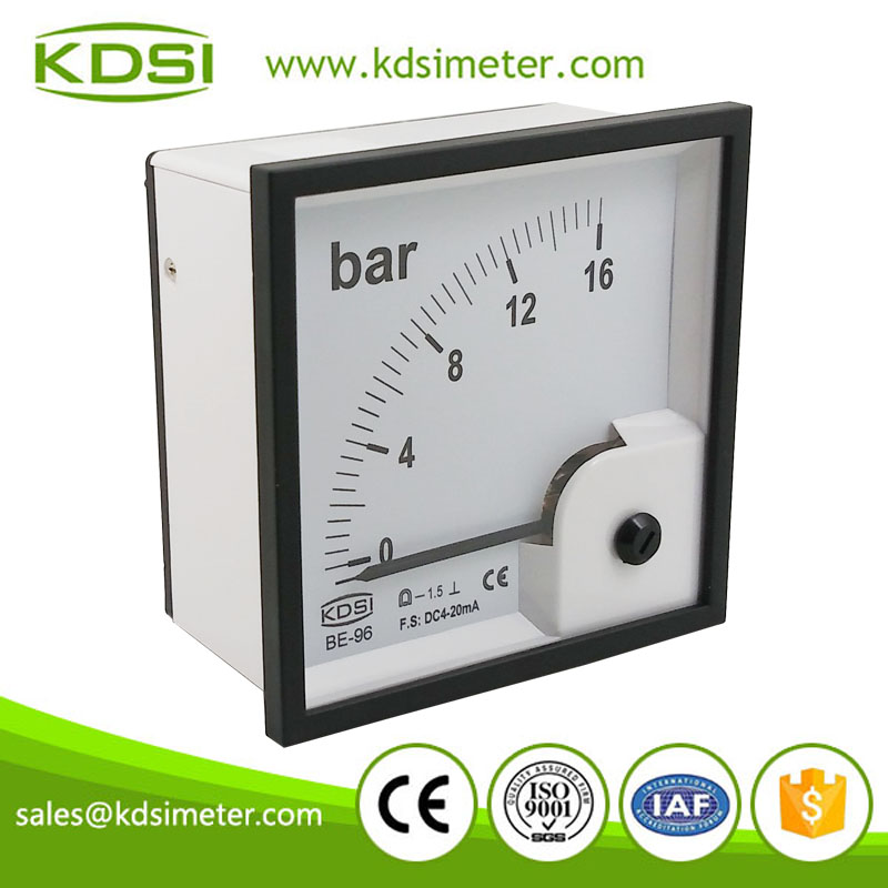 Portable precise BE-96 96*96 DC4-20mA 16bar current pressure panel meter