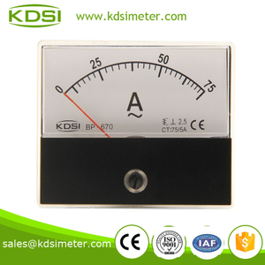 Easy operation BP-670 60*70 AC75/5A panel current meter