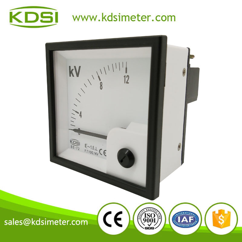 20 years Professional Manufacturer BE-72 AC10/0.1KV 12KV ac voltmeter display