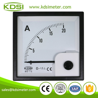 KDSI electronic apparatus BE-72 DC20A analog dc panel mount ammeter