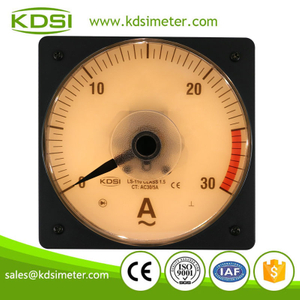 Easy installation LS-110 AC30/5A backlighting analog ac panel mount ammeter with output