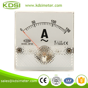 Square type BP-80 80*80 AC150/5A analog ac amp panel meter