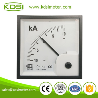 Hot Selling Good Quality BE-96 96*96 DC+-10V +-10KA panel ammeter and voltmeter