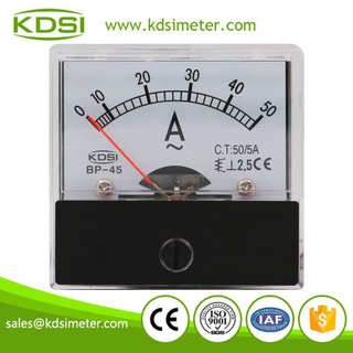 Small & high sensitivity BP-45 AC50/5A ac analog moving iron ampere meter