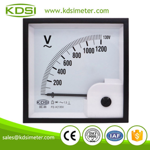 Easy operation BE-96 AC130V 1200V rectifier analog ac panel voltage meter