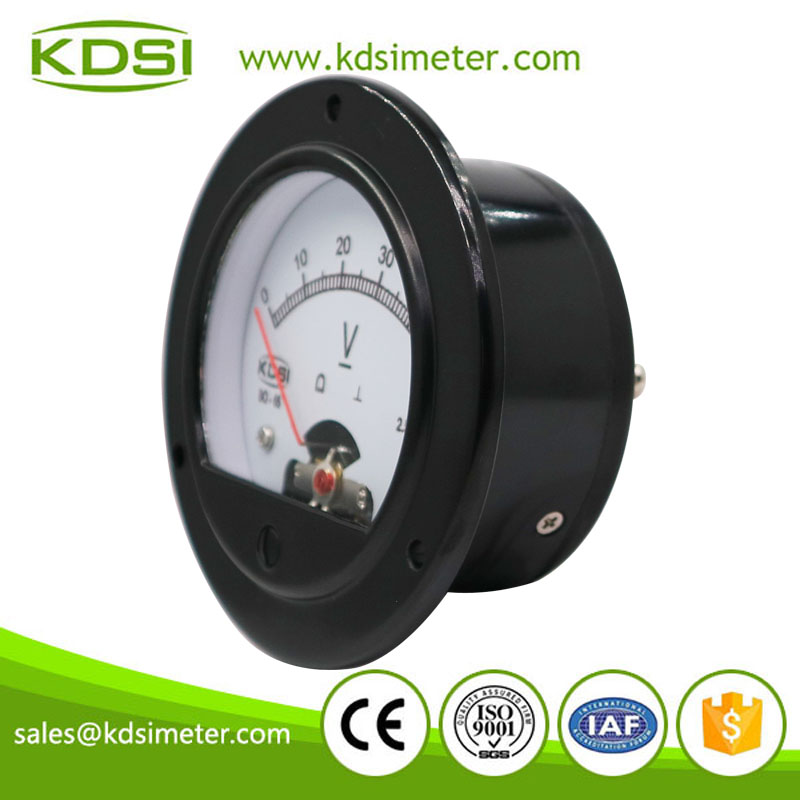 Factory direct sales BO-65 DC50V analog dc panel round voltmeter