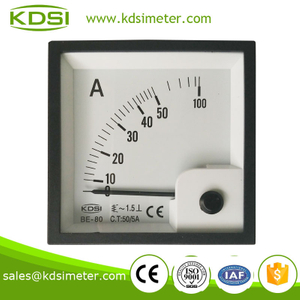 High quality BE-80 AC50 / 5A analog ac ampere meter