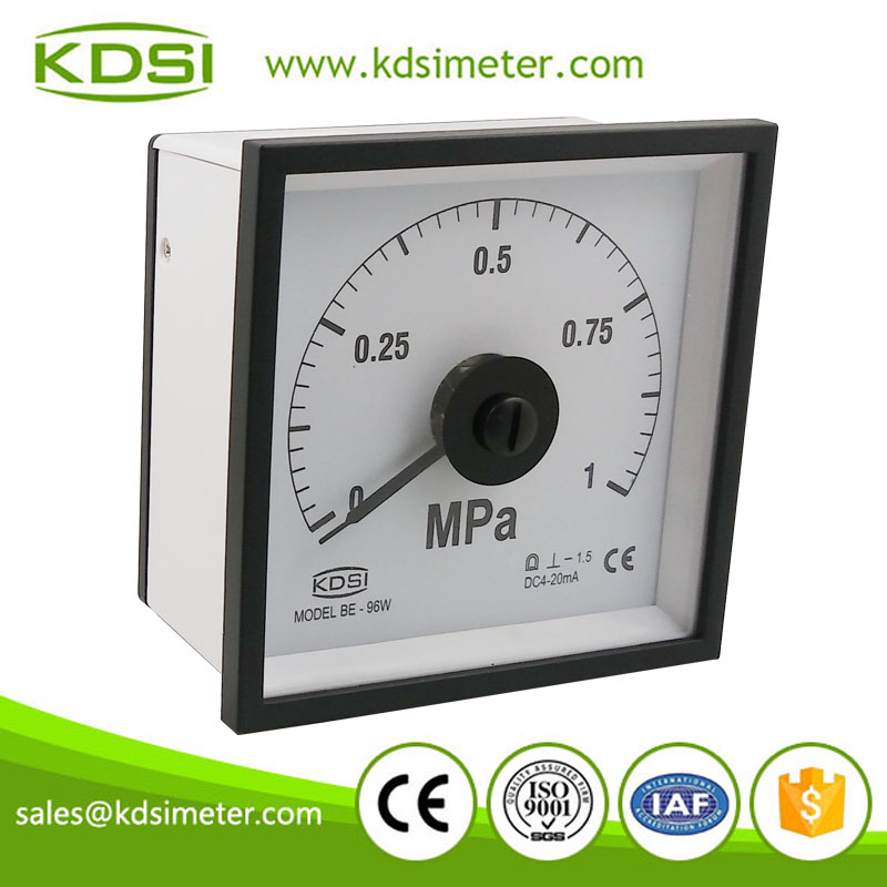 Hot sales wide Angle Meter BE-96W DC4-20mA 1MPa pressure gauge for marine