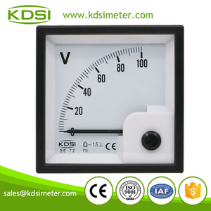 CE certificate BE-72 DC100V analog dc panel voltage meter