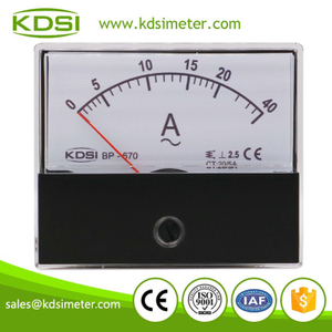 New Hot Sale Smart BP-670 AC20/5A 2 times overload ac analog panel mount ammeter