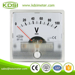Factory direct sales BP-45 DC100V analog dc panel mount voltmeter
