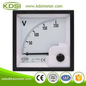 Hot Selling Good Quality BE-72 AC200V rectifier panel analog ac ammeter ac voltmeter