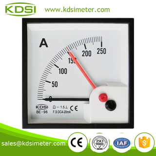 Square type Easy operation BE-96 DC4-20mA 250A double pointer ammeter with output